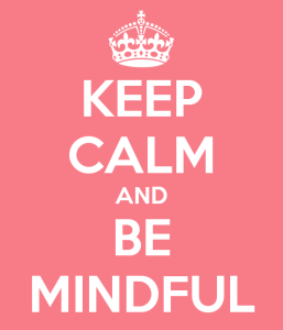 YB afbeelding keep calm be mindful roze